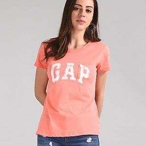 New GAP Pocket Tee Logo  Tshirt, sz M Neon Coral